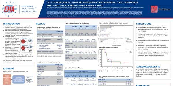 Tislelizumab (BGB-A317) for relapsed/refractory peripheral T-cell lymphomas: safety and efficacy results from a phase 2 study