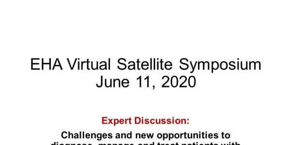 EHA Virtual Satellite Symposium 2020 Introduction