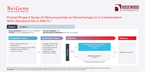 Pivotal phase 2 study of Obinutuzumab as Monotherapy or in combination with Zanubrutinib
