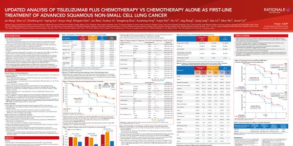 Updated analysis of tislelizumab plus chemotherapy vs chemotherapy alone as first-line treatment of advanced squamous non-small cell lung cancer