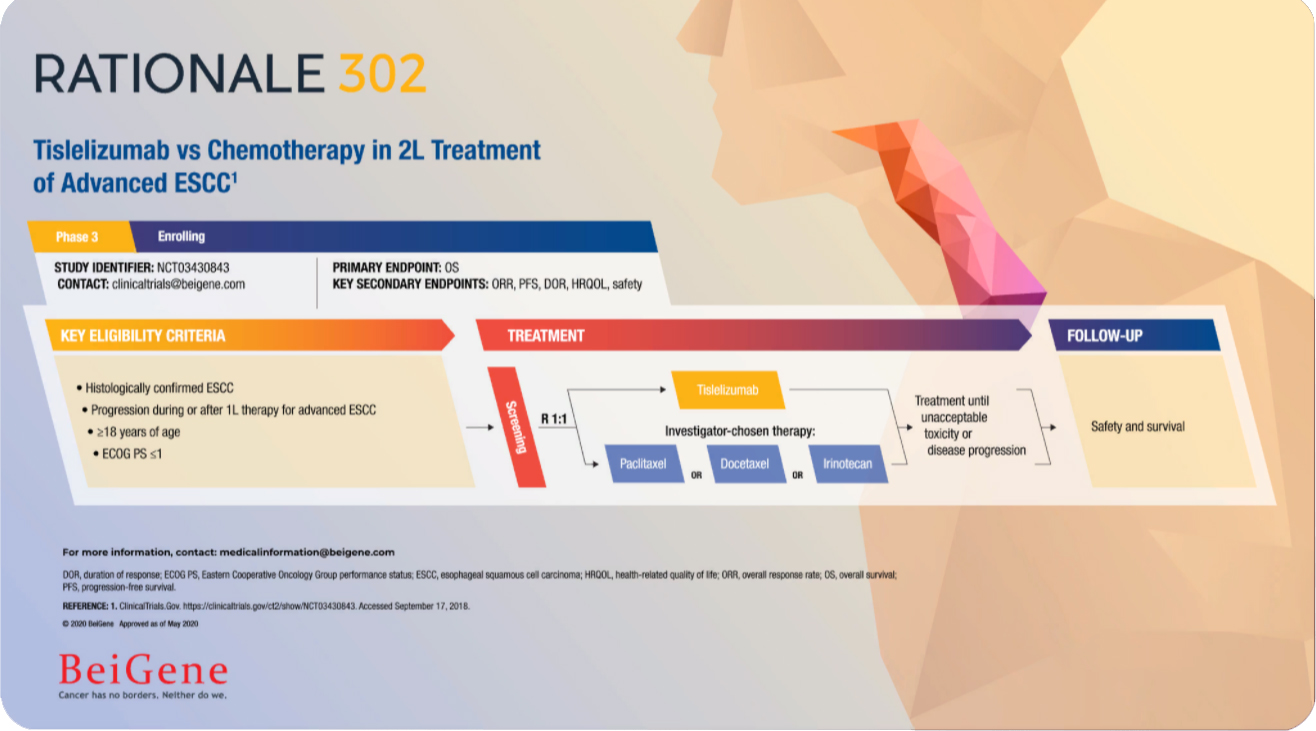 Tislelizumab vs Chemotherapy in 2L Treatment of Advanced ESCC