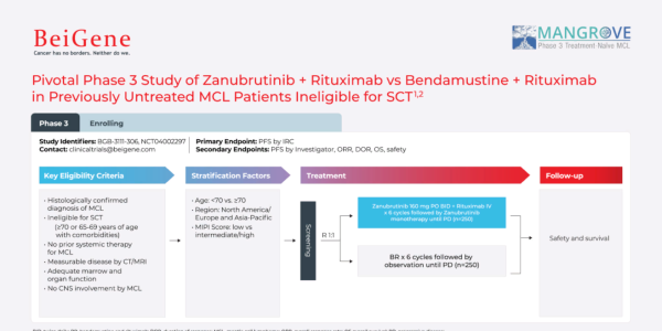 Pivotal phase 3 study of Zanubrutinib vs. Bendamustine